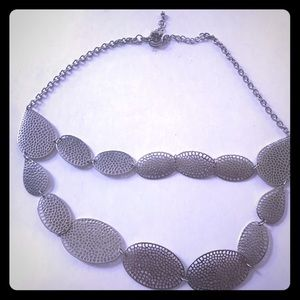New silver designer necklace